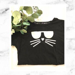 Karl Lagerfeld Cat T Shirt